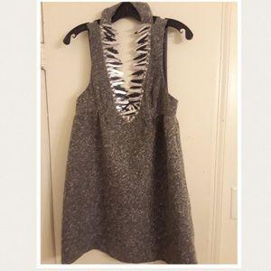 Anna Sui wool tweed DRESS